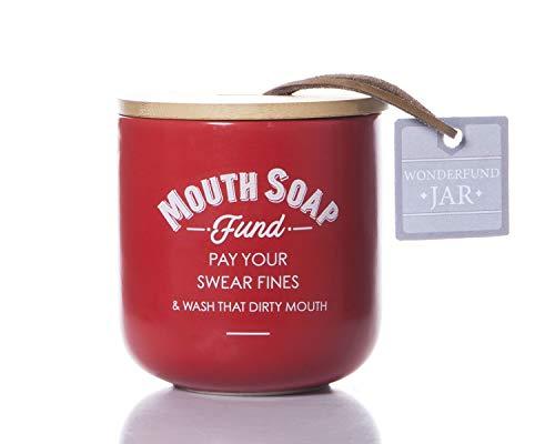 Boxer Gifts - Boîte à Savon pour la Bouche - Cadeau Amusant pour Les Amis, la Famille et Les collègues - Rouge