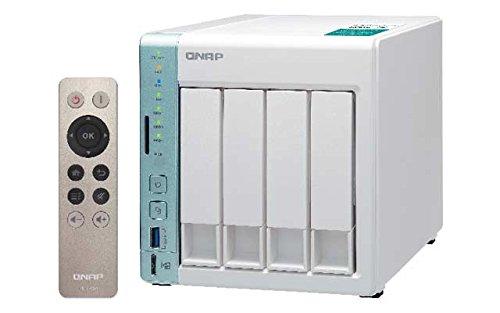 Qnap TS-451A-4G - Servidor (1,6 GHz, DualCore, 4 bahías, 16 TB, 4 TB WD40EFRX), color rojo
