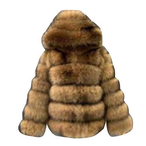 Mujer Invierno Cálido Abrigo Chaqueta de Lujo Piel sintética Artificial Abrigo Grueso Espesar Chaqueta Parka de Invierno de Manga Larga