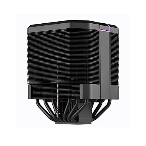 Centilador Cpu Computer CPU Fans de enfriamiento de 120 mm PWM Ventilador de flujo convergente Control inteligente Control inteligente RGB FAN Placa base Sincronización con 6 pippipes Sistema Refriger