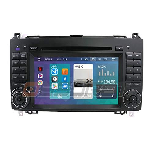Android 10 Auto GPS Navigation Bluetooth 2 Din Auto Multimedia System mit 7 Zoll Touchscreen Spiegel-Link WiFi Radio Passt für Mercedes-Benz A-W169 B-W245 V-W639 W906 Sprinter VW Crafter