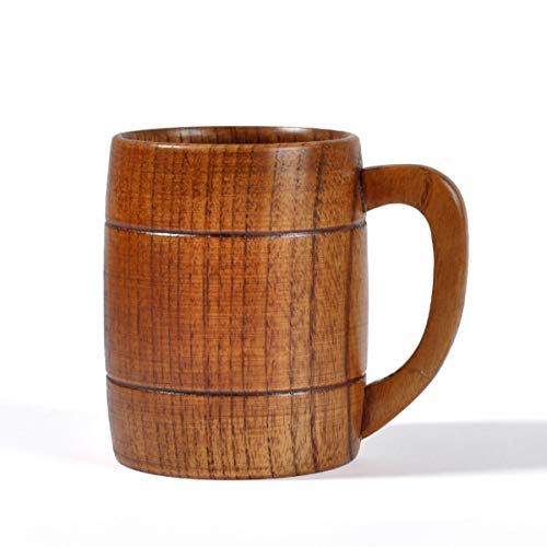 Taza de madera de cerveza de azufaifo, barra personalizada sala de estar con mango taza de cerveza de madera con orejas,Taza clásica con mango