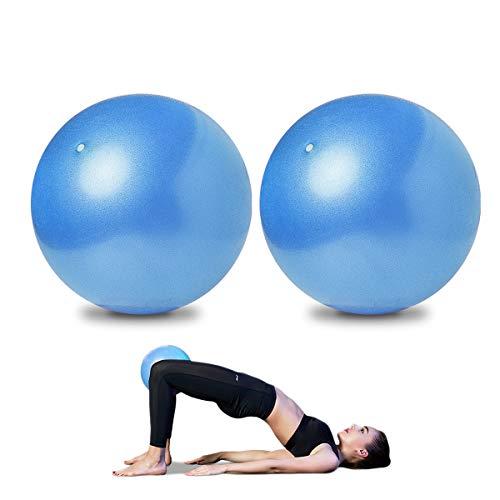 AOAVE 2 unidades de pelota de pilates, bola de yoga, bola de barrera, mini pelota de ejercicio, 9 pulgadas pequeña Bender Ball, Pilates, Yoga, Core Training y terapia física, mejora el equilib
