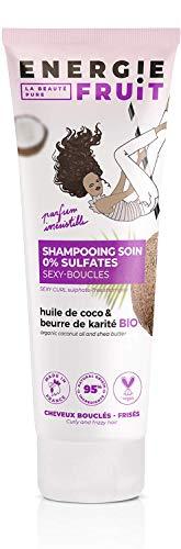 pas cher un bon Shampoing Energy Fruit à la noix de coco bio et au beurre de karité pour cheveux forts et loots – Tube 250ml