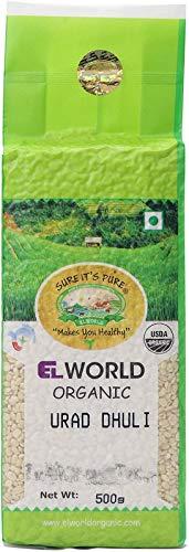 Elworld Agro & Organic Urad Split Washed, 500 Gram (Pack of 2)