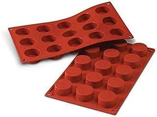 Silikomart 20.027.00.0060 SF027 Moule Forme Petit-Four 15 Cavités Silicone Terre Cuite