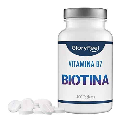 GloryFeel® Biotina 10000 mcg de dosis alta (Vitamin B7) - Para crecimiento...