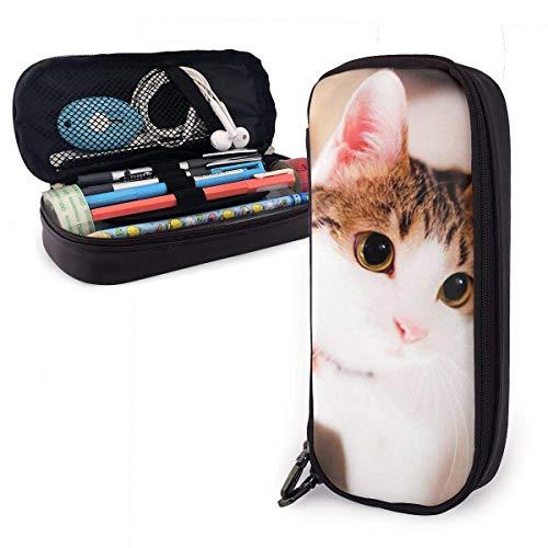 Pencil Cases Holder Zipper Multipurpose School Office Supplies-Lovely Kitten Cat Satchel
