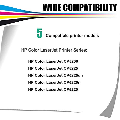Kolasels Compatible Toner Cartridge (1-Pack, Yellow) Replacement for HP 307A CE742A Toner to use with Color Laserjet CP5200 CP5225 CP5225dn CP5225n CP5220 Printer (High Yield) Photo #2