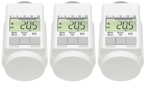 AGT–Set aus 3programmierbaren Thermostatventilen (zur Energieeinsparung), Farbe: weiß
