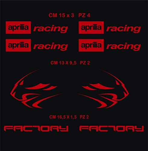 Selbstklebend Stickers-Racing Factory Kit Aprilia Löwe 08?SCEGLI Colore- Motorrad Cod. 0118 - Rosso cod. 031