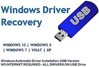 Automatic Driver Installation USB Drive 32GB for Windows 10, 7, Vista and XP. Supports HP Dell Gateway Toshiba Gateway Acer Sony Samsung MSI Lenovo Asus IBM Compaq eMachines ⭐⭐⭐⭐⭐