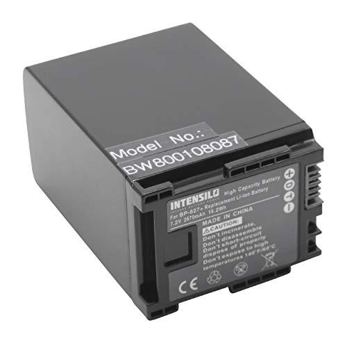 INTENSILO Li-Ion batería 2670mAh (7.2V) para videocámara cámara de vídeo Canon Legria HG30, S100, XA10 por Canon BP-827.