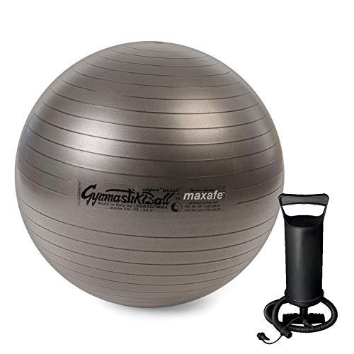 PEZZI Original Gymnastik Ball Maxafe 65cm +Pumpe Plus Sitz Therapie anthrazit
