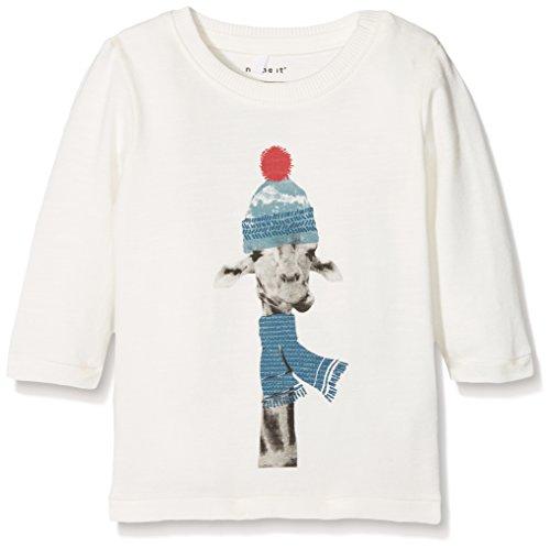 Name It Nitfilol Ls Top M NB T-Shirt À Manches Longues, Blanc (Snow White), 68 Bébé garçon