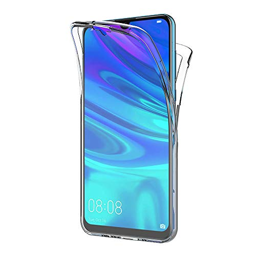 AICEK Compatible Huawei P Smart Plus 2019 Hülle, 360°Full Body Transparent Silikon Schutzhülle für Huawei P Smart+ 2019 Case Durchsichtige TPU Bumper P Smart Plus 2019 Handyhülle (6,21 Zoll)