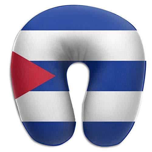 LisaArticles Pillow,Cojín Trasero con Bandera Cubana, Almohada Suave Y Cómoda para El Descanso del Viaje En Avión