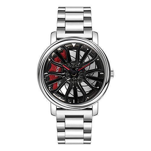 SANDA Relojes Mujer,Reloj de Cuarzo con Personalidad Fresca, Cuando se Trata de Correr Relojes de subcoches.-Cinturón de Acero Plateado