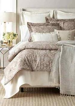 Ralph Lauren Throw Blanket Paulina Sage Natural Pristine