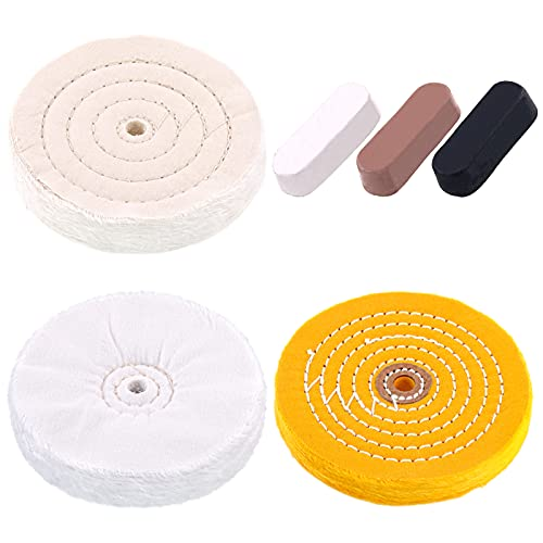 Swpeet 6Pcs 6 Inch Professional Buffing Polishing Wheels with 3 Colors...