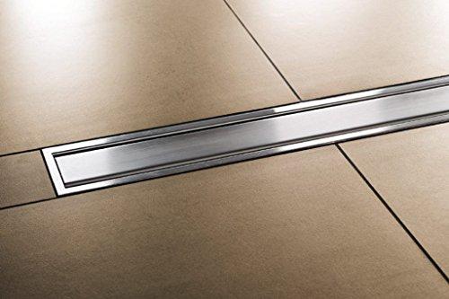 Schlüter KERDI-LINE A Designrost Abdeckung mit Rahmen 19mm Edelstahl gebürstet 90cm