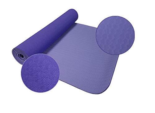 YanLong yogamat, milieuvriendelijke materialen, antislip, comfort en hoge dichtheid, 183 x 61 x 0,6 cm, hypoallergeen en huidvriendelijk, ideaal voor yoga, pilates en fitness