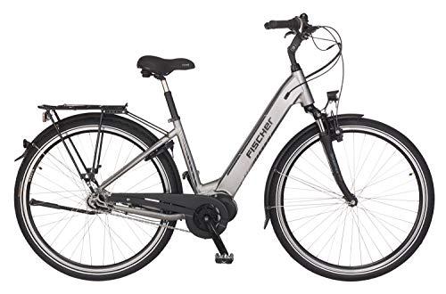 FISCHER City E-Bike CITA 4.0i, Elektrofahrrad, quarzgrau matt, 26 Zoll, RH 41 cm, Mittelmotor 50 Nm, 48V/418 Wh Akku im Rahmen