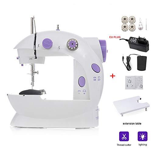 fgfh Máquina de coser eléctrica multifuncional, micro máquina doméstica, mini máquina de coser