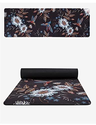 Flor impresión gamuza Yoga Mat 6MM grueso respetuoso del medio ambiente antideslizante Yoga mejor Yoga Mat SBS Pilates esteras Fitness colchón