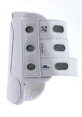 Premier Equine Carbon Tech Air Cooled Eventing Boots Gelände-Gamaschen Gamaschen Paar vorne (M, White)
