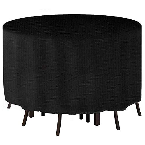 Cube Garden Furniture Cover,Windproof, Anti-UV 490D Oxford Fabric Outdoor Garden Table Cover with Thickened Round,Various sizes