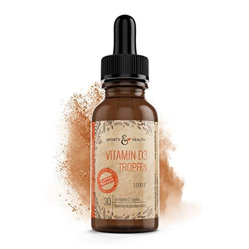 Vitamin D3 Tropfen Mit 1000IE In 30 ml Vitamin D Und Vegetarisch Mit 25 µg Als Nahrungsergänzung Von Sports & Health