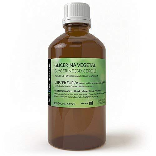 Essenciales - Glycérine végétale, 100 ml   Pureté maximale et certifiée - USP/Ph.Eur - VG Base