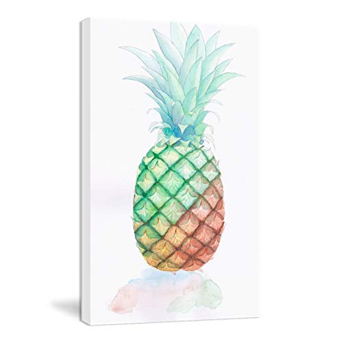 K-Road Pineapple Wall Art Framed Canvas Painting Modern Print Fruit Picture Kitchen Living Room Decor Watercolor 10'x16' (BL-CS)