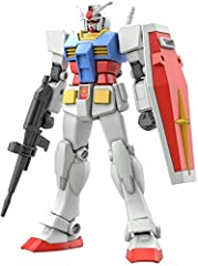 Consisting of only 74 parts the Entry Grade RX-78-2 Gundam is the ultimate introduction item for GunPla. The plastic is color molded requiring no paint, snaps together requiring no glue, uses easy twist off parts, requing no tools, and now doesn't ev...