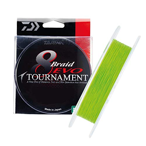 JAPAN DAIWA Tresse 8 Brins Tournament 8 Braid Evo Chartreuse - 135m - D.0.08mm - R.4.9kg - 12780108
