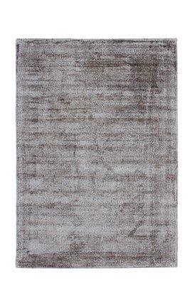 Casa Padrino Designer Teppich Vintage Look Viscose Silber Grau - Handgefertigt - Möbel Teppich, Grösse:80 x 150 cm