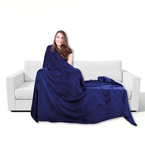 Bestgoodies Kuscheldecke 220x240cm in Blau, supersofte Tagesdecke in vielen Varianten erhältlich
