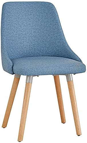 NUANYANG Dining Chair Chair Simple Student Desk And Chair Makeup Computer Stool Back Home Dining Chair (Color : Blue)
