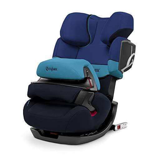 CYBEX Silver 2-in-1 Kinder-Autositz Pallas 2-Fix, Für Autos mit und ohne ISOFIX, Gruppe 1/2/3 (9-36 kg), Ab ca. 9 Monate bis ca. 12 Jahre, Blue Moon