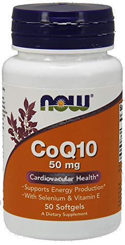 NOW Foods CoQ10 with Selenium & Vitamin E, 50mg 50 softgels