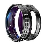 Ulanzi WL-1 Weitwinkel-Adapterring für Makroobjektiv, 2-in-1, 18 mm Fokus, Weitwinkel, mit starker selbstklebender Rückseite, für Sony ZV1 Kamera