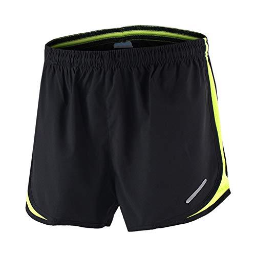 Short De Sport pour Homme,Doublé d'un Pantalon De Sport à Séchage Rapide Respirant Ample,pour L'entraînement Le Jogging Le BadmintonLes Sports De Plein Air Et Autres Activités(Color:Vert,Size:XL)