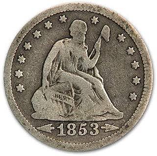 1853 Liberty Seated Quarter w/Arrows & Rays VG Quarter Very Good