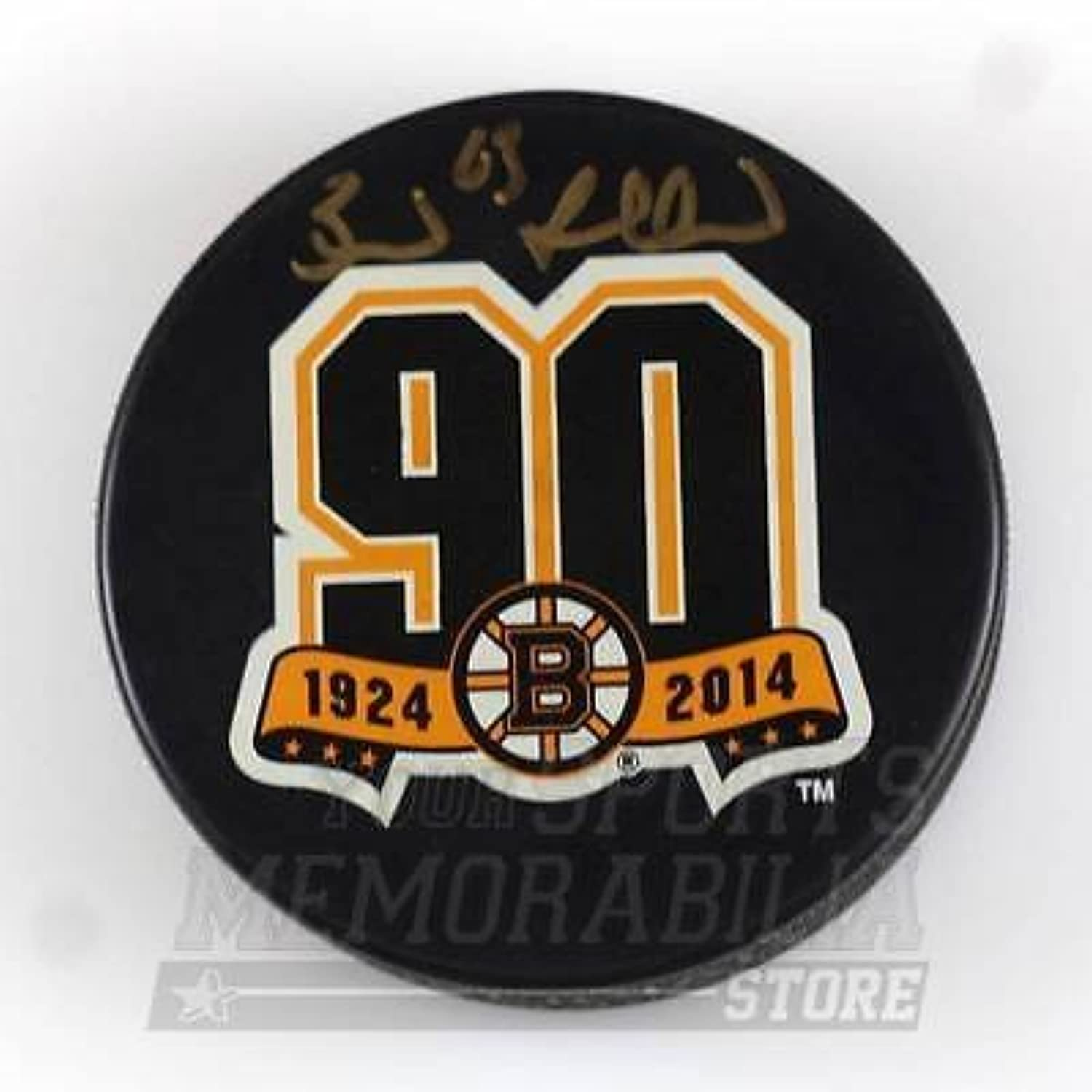 Brad Marchand Boston Bruins Signed Autographed Bruins 90th Year Hockey Puck