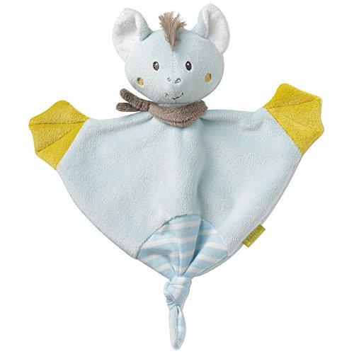 Fehn 065060 Schmusetuch Fledermaus / Schnuffeltuch mit Fledermaus-Köpfchen zum Greifen, Fühlen, Knuddeln und Liebhaben für Babys und Kleinkinder ab 0+ Monaten