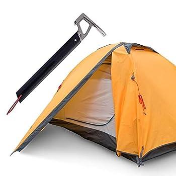 Ruluti Camping Hammer, Multifonction Camping en Plein air Mallet Aluminium Tente Marteau avec Tente pieu Remover