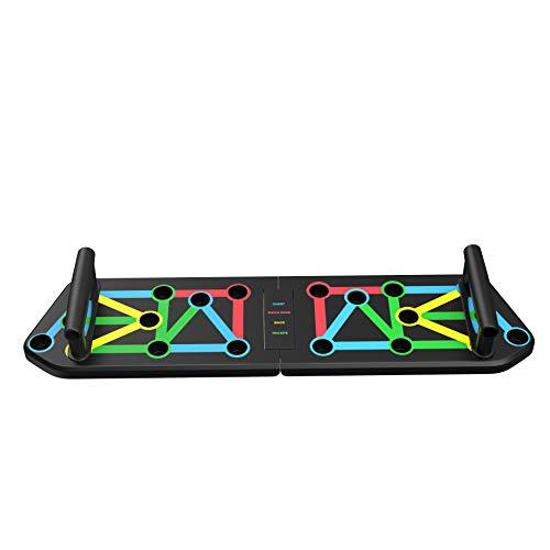 HaoKitu Push Up Board, Push Up Rack Board, Tabla de Flexiones, 13 en 1 Plegable multifunción E...