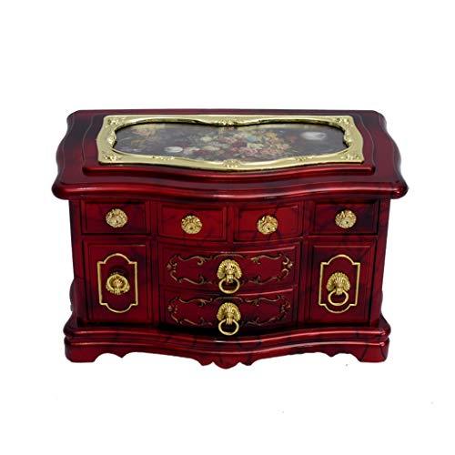 Caja de Música Joyería clásica del organizador del caso de los anillos / pendientes, bailarina caja de música (castillo en el cielo), cajas de música de la vendimia, regalo de Personalizable Regalo de