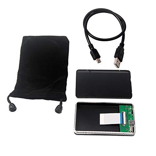 USB 2.0 Festplattengehäuse für CE ZIF Adapter, 1.8 Zoll CE/ZIF Festplatte Gehäuse Alugehäuse, mit USB Verbindungskabel